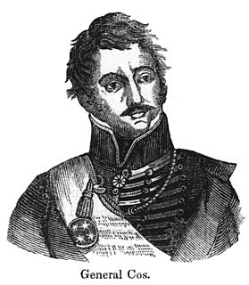 Martín Perfecto de Cos General of the Mexican Army