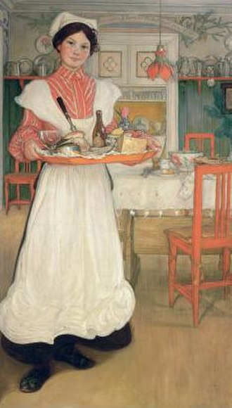 Carl Larsson - Image: Martina med frukostbrickan