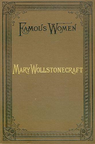 Elizabeth Robins Pennell - Cover of Mary Wollstonecraft, Pennell's first book
