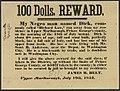 Maryland 1853 Runaway Slave Reward Broadside.jpg
