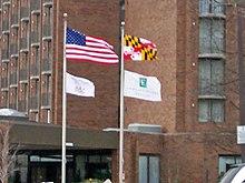 67d07deddbb The Maryland state flag flying alongside the American flag in March 2008.