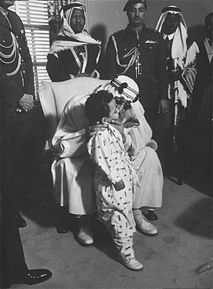 Saud of Saudi Arabia - King Saud with his son Mashhoor