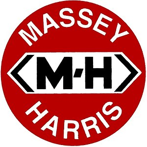 Massey Ferguson -  Massey-Harris company logo c. 1952 graphics generated