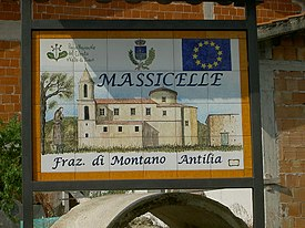 Massicelle (ceramic plaque representing the village church).jpg