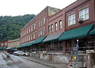 National Register of Historic Places listings in Mingo County, West Virginia - Image: Matewan Historic District; Matewan, West Virginia