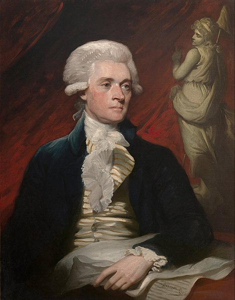 Portrait of Thomas Jefferson in London by Mather Brown, 1786 (Wikimedia Commons)