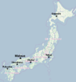 Matsue Japan Map.png