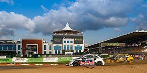 2015 World RX of Turkey - Mattias Ekström leads Robin Larsson and Davy Jeanney