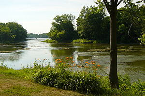 Maumee River - The Maumee River at Grand Rapids, Ohio