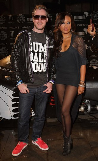 Eve (rapper) - Maximillion and Eve at the Gumball 3000 launch party.