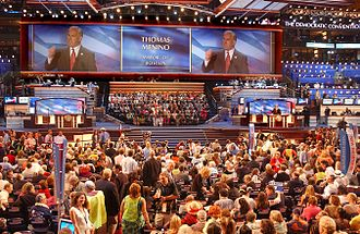2004 Democratic National Convention - Boston mayor Thomas Menino welcomes delegates to the convention