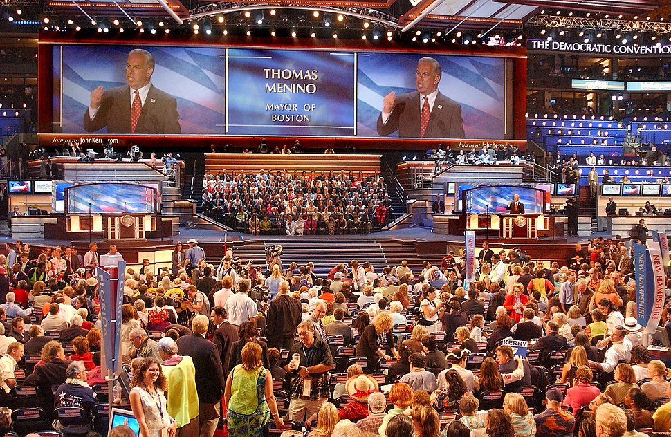 Mayor Thomas M. Menino welcomes delegates to the 2004 Democratic National Convention (15488514810)