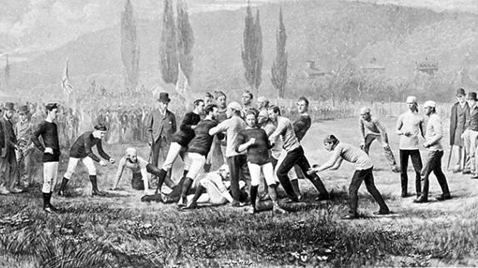 McGill v harvard football game 1874