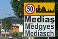 Mediasch Ortsschild 2016.JPG