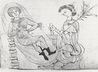 Ìṣẹ́yúnA woman receiving pennyroyal, a common medieval abortifacient. From Herbarium by Pseudo-Apuleius. 13th-century manuscript.
