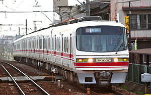 Meitetsu 1200 series - The 1200 series end of set 1112 in November 2008