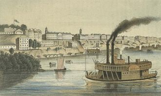 Memphis, Tennessee - Memphis in the mid-1850s