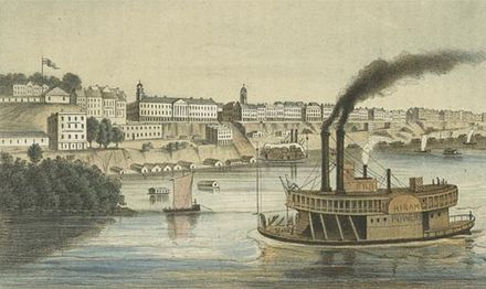 Memphis in the mid-1850s Memphis Tennessee 1850s.jpg