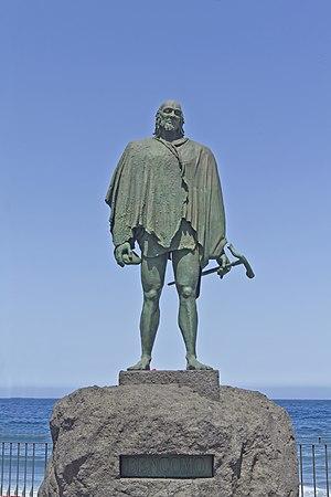 Bentor - A statue of Taoro mencey Bencomo, the father of Bentor.