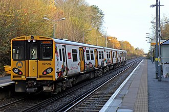 British Rail Class 507 - Image: Merseyrail Class 507, 507002, Aughton Park railway station (geograph 3786751)
