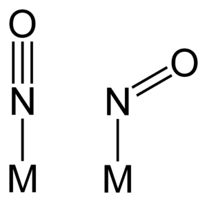 Metal nitrosyl complex - linear and bent M-NO bonds