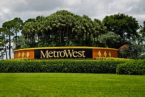 MetroWest (Orlando) - Image: Metro West, Orlando sign