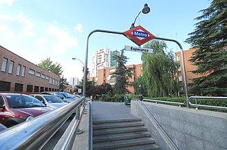Esperanza (Madrid Metro) - Entrance