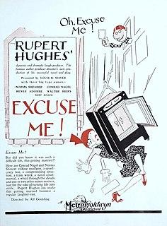 <i>Excuse Me</i> (1925 film) 1925 film