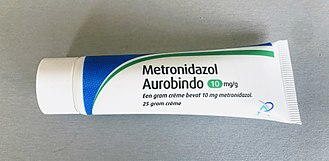 Metronidazole - A tube of metronidazole