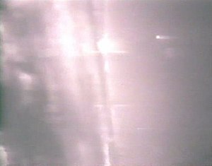 1989 air battle near Tobruk - Gun camera still of the lead F-14 showing the last remaining MiG-23 exploding after being hit by an AIM-9 Sidewinder missile.