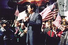 Michael Benjamin Times Square Pro-Troops Rally 2004 02.jpg