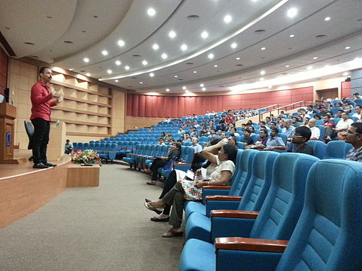 Mickey Mehta addressing students and Faculty at IIT Powai, Mumbai