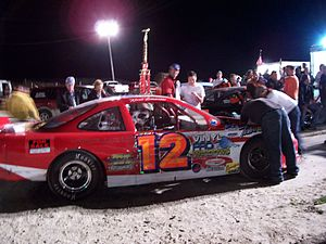 Mid-American Stock Car Series - Kevin Damrow's car after winning the 2007 Vercauteran Memorial at 141 Speedway
