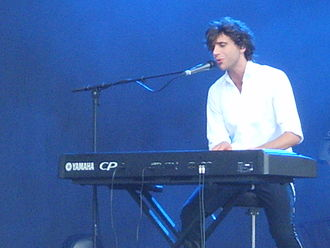 Mika (singer) - Mika playing keyboard at V Festival 2007 in Weston Park, Staffordshire
