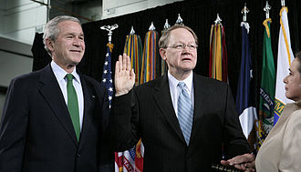 John Michael McConnell - McConnell is sworn-in as DNI, February 20, 2007.
