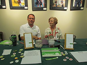Mike Schreiner - Mike Schreiner and Jane Sterk at the 2012 Green Party of Canada convention.