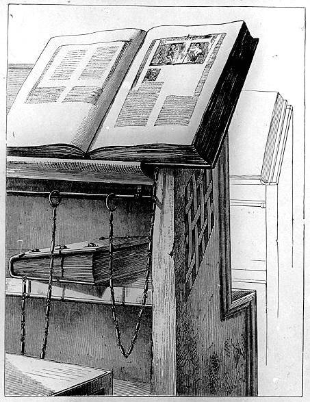 Milkau Bücherschrank mit angekettetem Buch aus der Bibliothek von Cesena 109-2