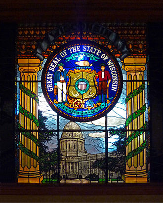 Seal of Wisconsin - Image: Milwaukee City Council chamber seal of Wisconsin