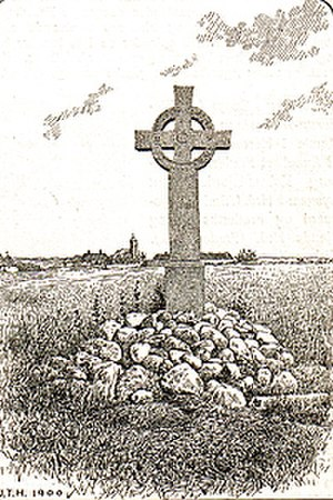 Eric V of Denmark - Memorial cross in village of Finderup