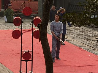 Axe throwing - Axe throwing at the Ming Culture Village, a theme park near the Yangshan Quarry, China