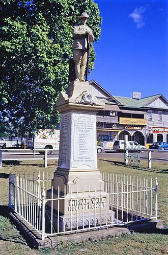 Miriam Vale - Miriam Vale War Memorial, 1995