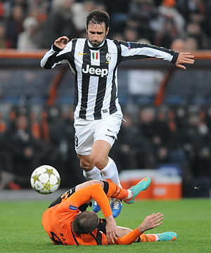 Mirko Vučinić - Vučinić in action for Juventus