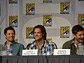 Misha Collins, Jared Padalecki & Jensen Ackles (4852031927).jpg
