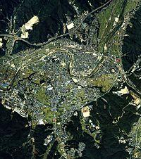 Mizunami city center area Aerial photograph.1987.jpg