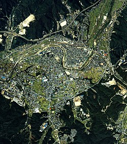 Mizunami city center area Aerial photograph.1987.jpg