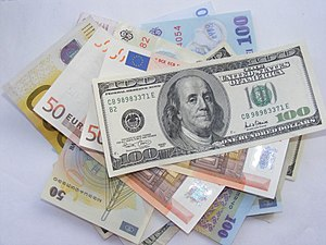 Exchange rate - USD, EUR and Romanian leu
