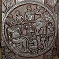 Monkey Jataka - Medallion - 2nd Century BCE - Red Sand Stone - Bharhut Stupa Railing Pillar - Madhya Pradesh - Indian Museum - Kolkata 2012-11-16 1855 Cropped.JPG