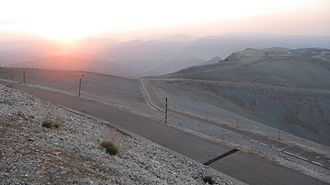 Mont Ventoux - The view from the summit of Mont Ventoux at dawn