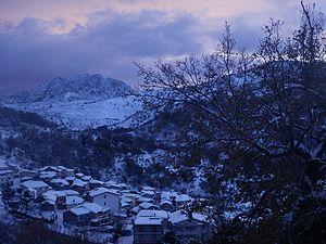 Pizzo di Vernà -  a silent Montagna di Vernà in winter over Fondachelli-Fantina