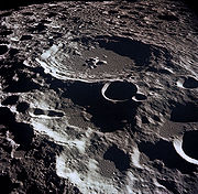 Lunar crater Daedalus on the Moon's far side